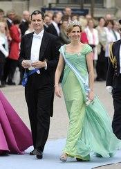 La Infanta Cristina e Iñaki Urdangarín, en la boda de Victoria de Suecia