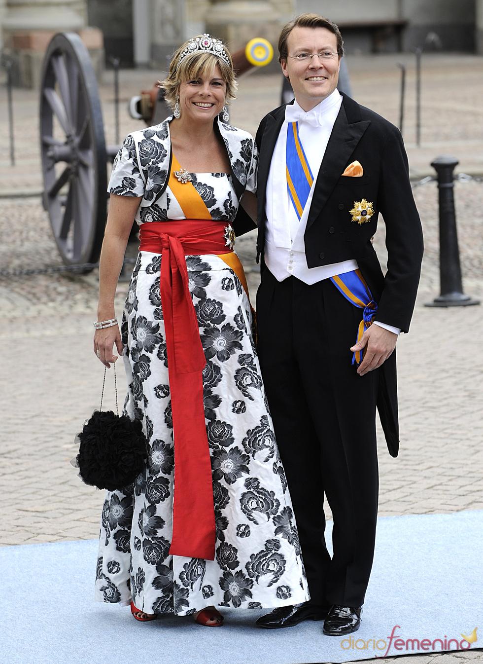 Los Príncipes Laurentien y Constantijn de Holanda en la boda de Victoria de Suecia