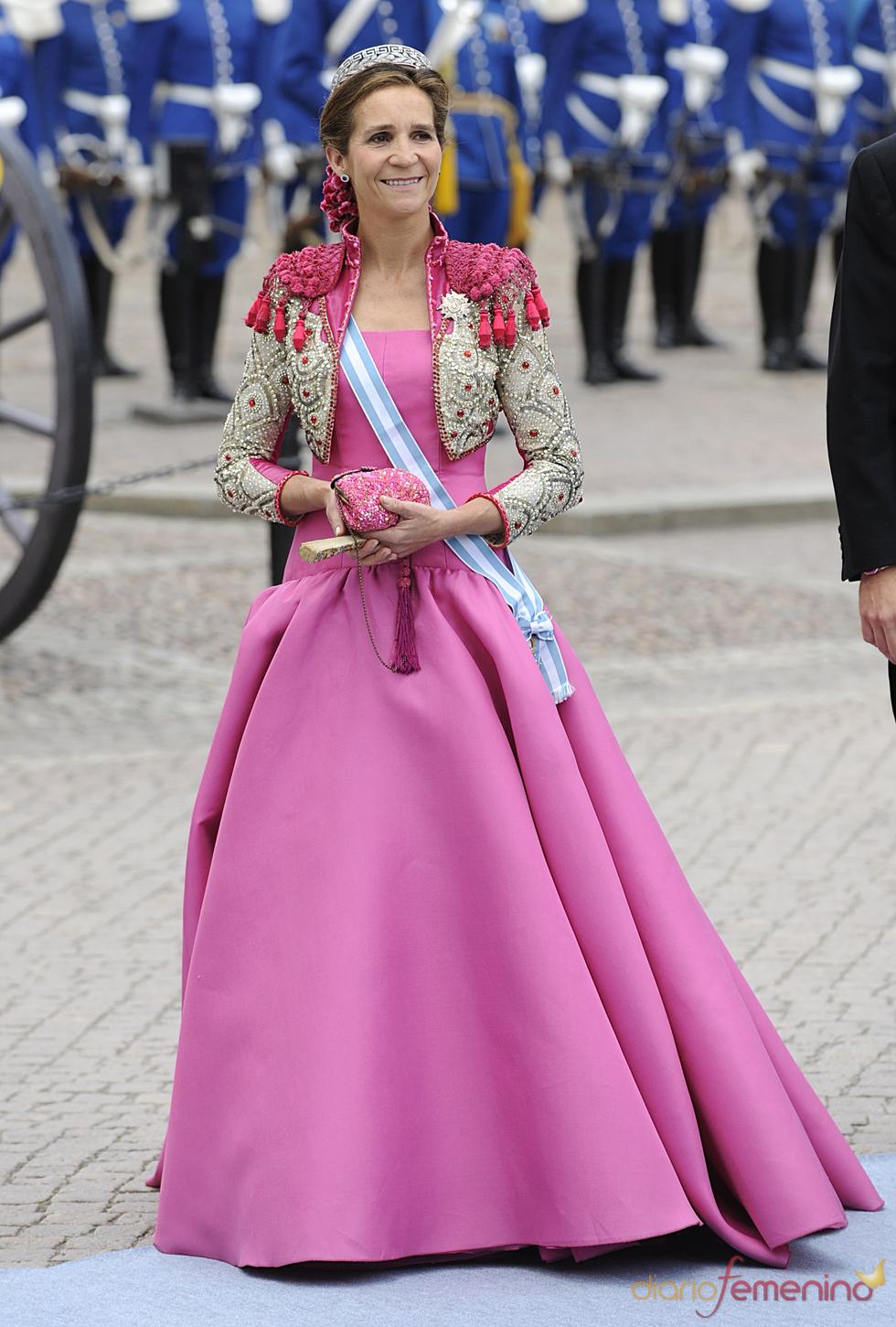 Infanta Elena, el vestido más audaz de la Boda Real en Suecia