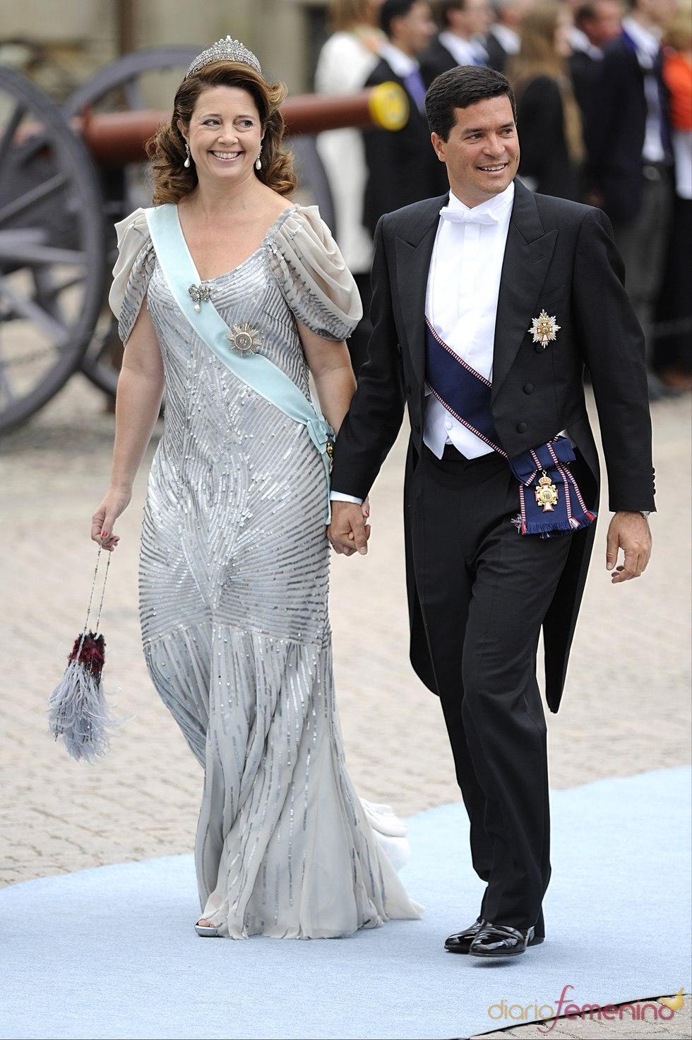Alexia de Grecia y Carlos Morales en la boda de Victoria de Suecia