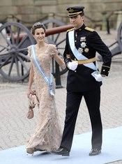 Felipe y Doña Letizia en la boda de Victoria de Suecia
