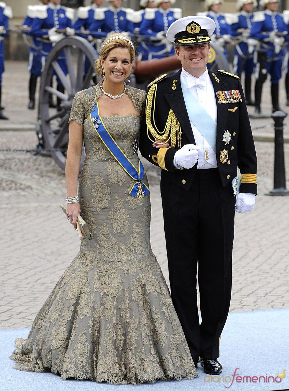 Máxima y Guillermo de Holanda en la boda de Victoria de Suecia