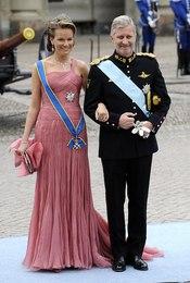 Felipe y Matilde de Bélgica en la boda de Victoria de Suecia