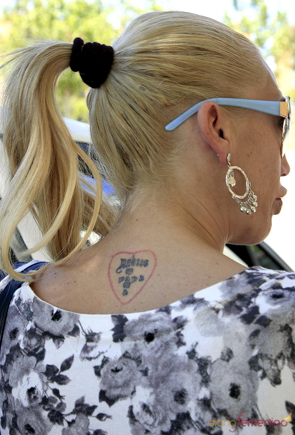 Tatuajes de Belén Esteban