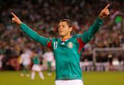 Chicharito con la selección mexicana