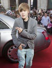 Justin Bieber posa en los premios MuchMusic
