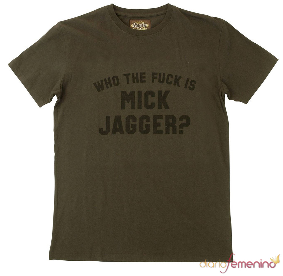 Camiseta 'Who the fuck is Mick Jagger'