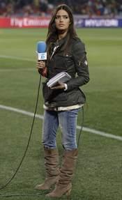 Sara Carbonero, antes del partido España-Honduras