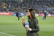 Sara Carbonero ante las cámaras y cerca de Iker Casillas
