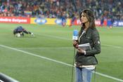 Sara Carbonero, junto a Iker Casillas en Sudáfrica
