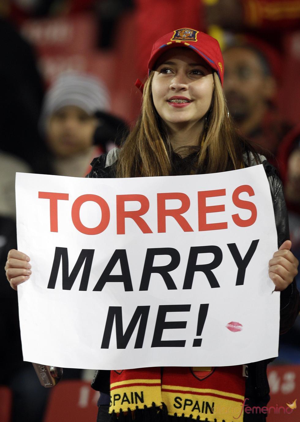 Fan de Fernando Torres en el Mundial