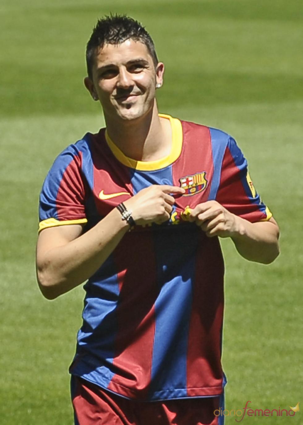 David Villa luce los colores del Barcelona