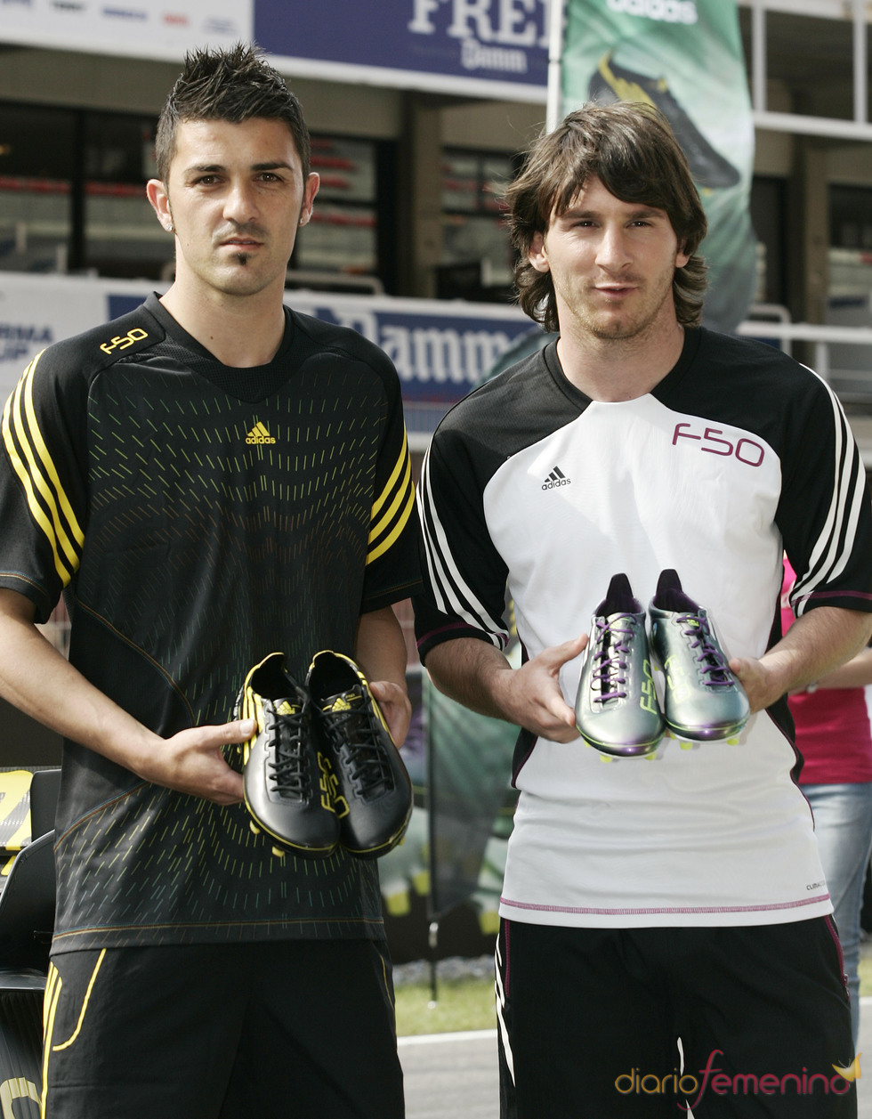 David Villa y Leo Messi, chicos de anuncio