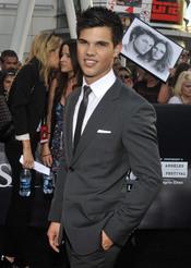 Taylor Lautner, en el estreno de 'Eclipse' en Los Ángeles