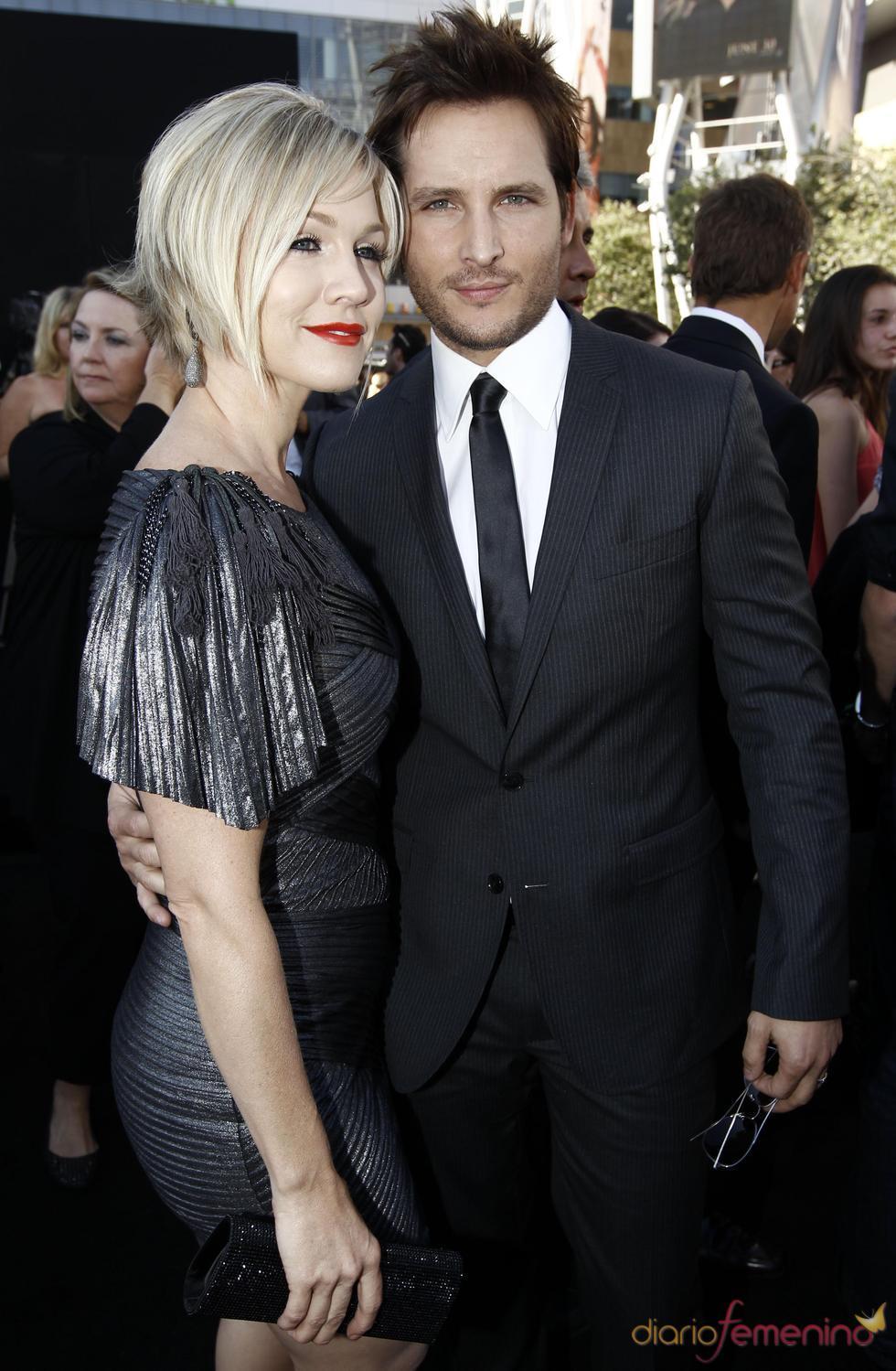 Jennie Garth y Peter Facinelli, en el estreno de 'Eclipse' en Los Ángeles