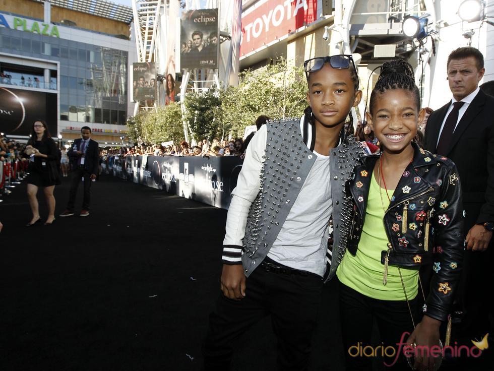 Jaden y Willow Smith, en el estreno de 'Eclipse' en Los Ángeles