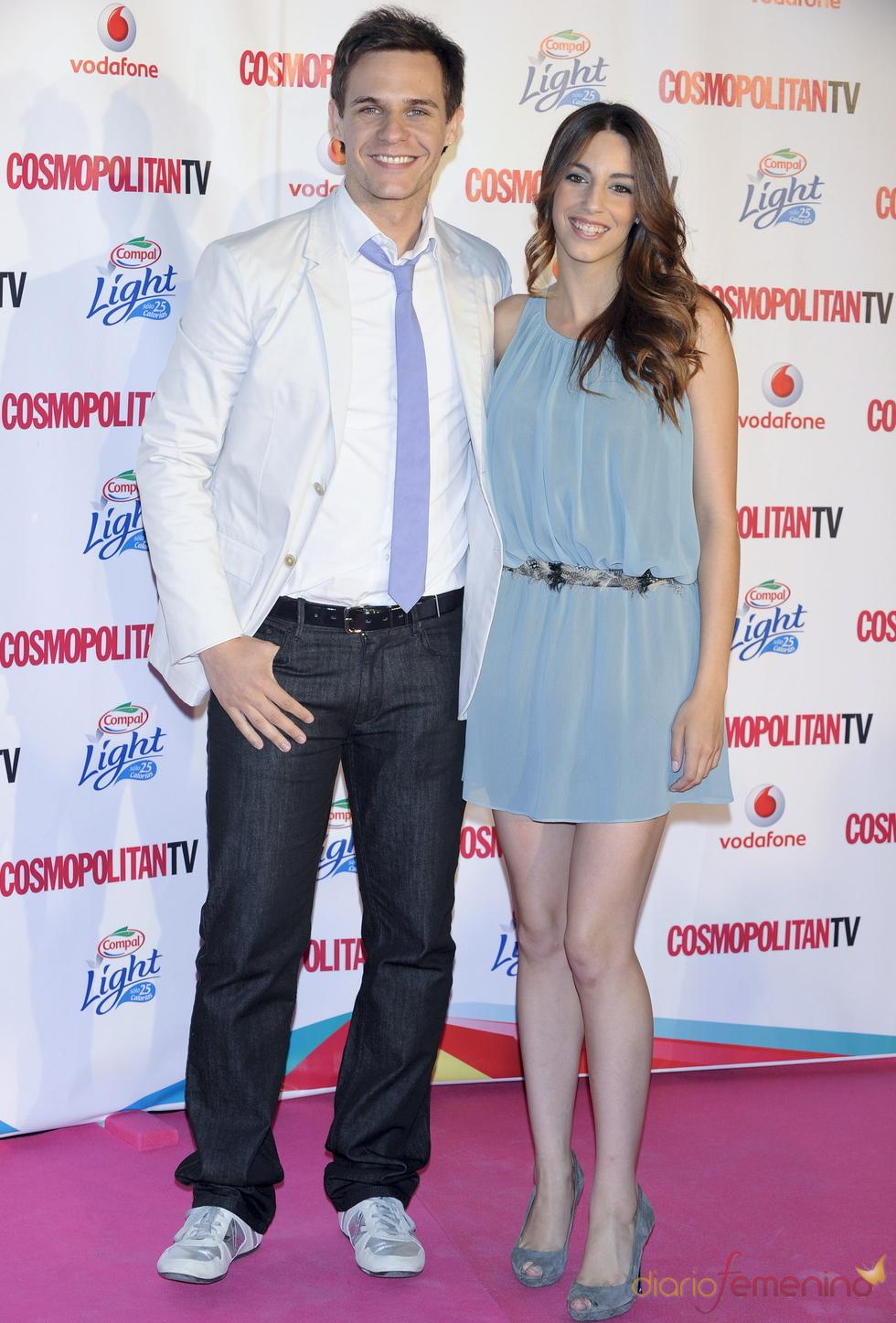 Christian Gálvez y Almudena Cid en los Premios Cosmopolitan TV