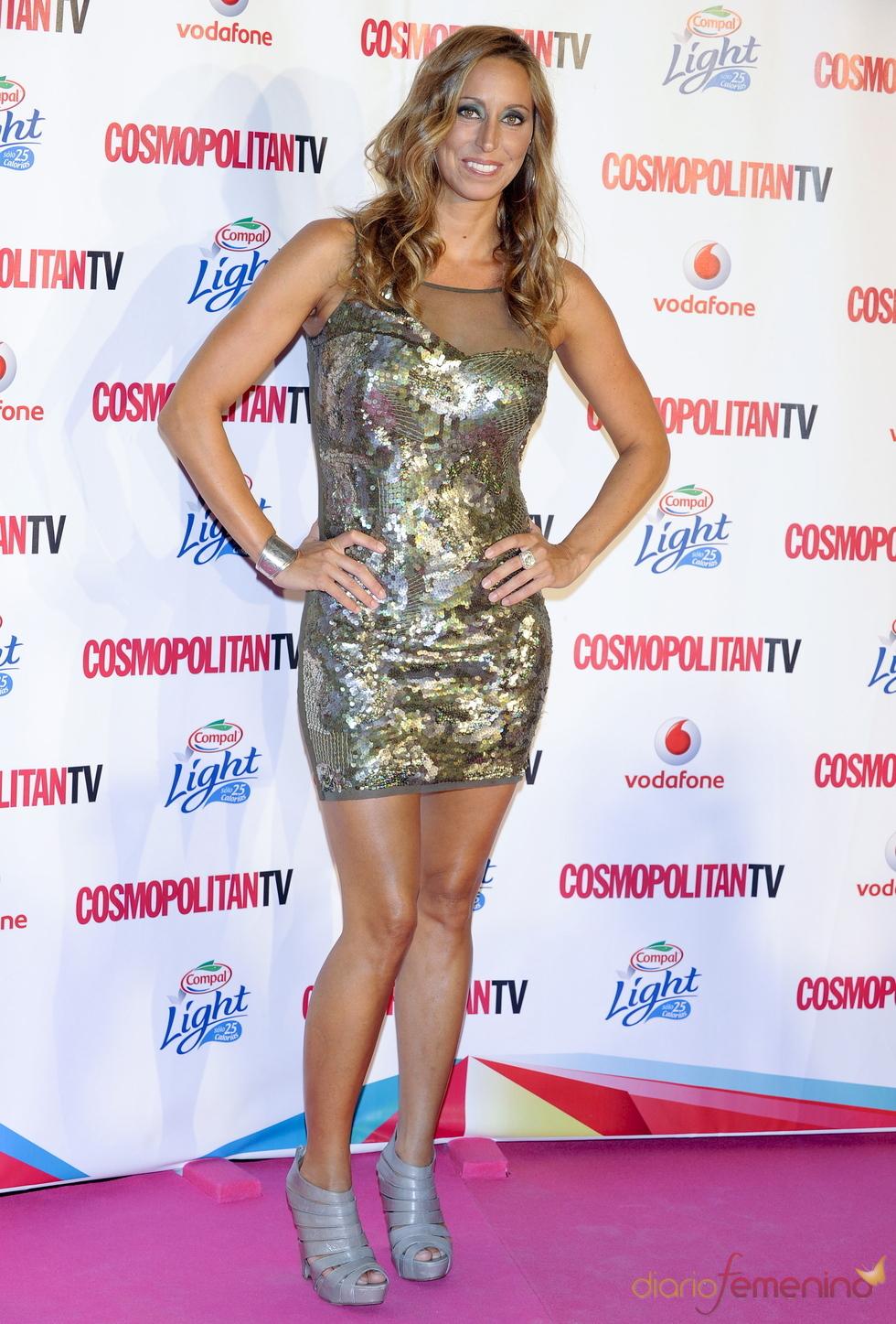 Gemma Mengual con vestido de lentejuelas