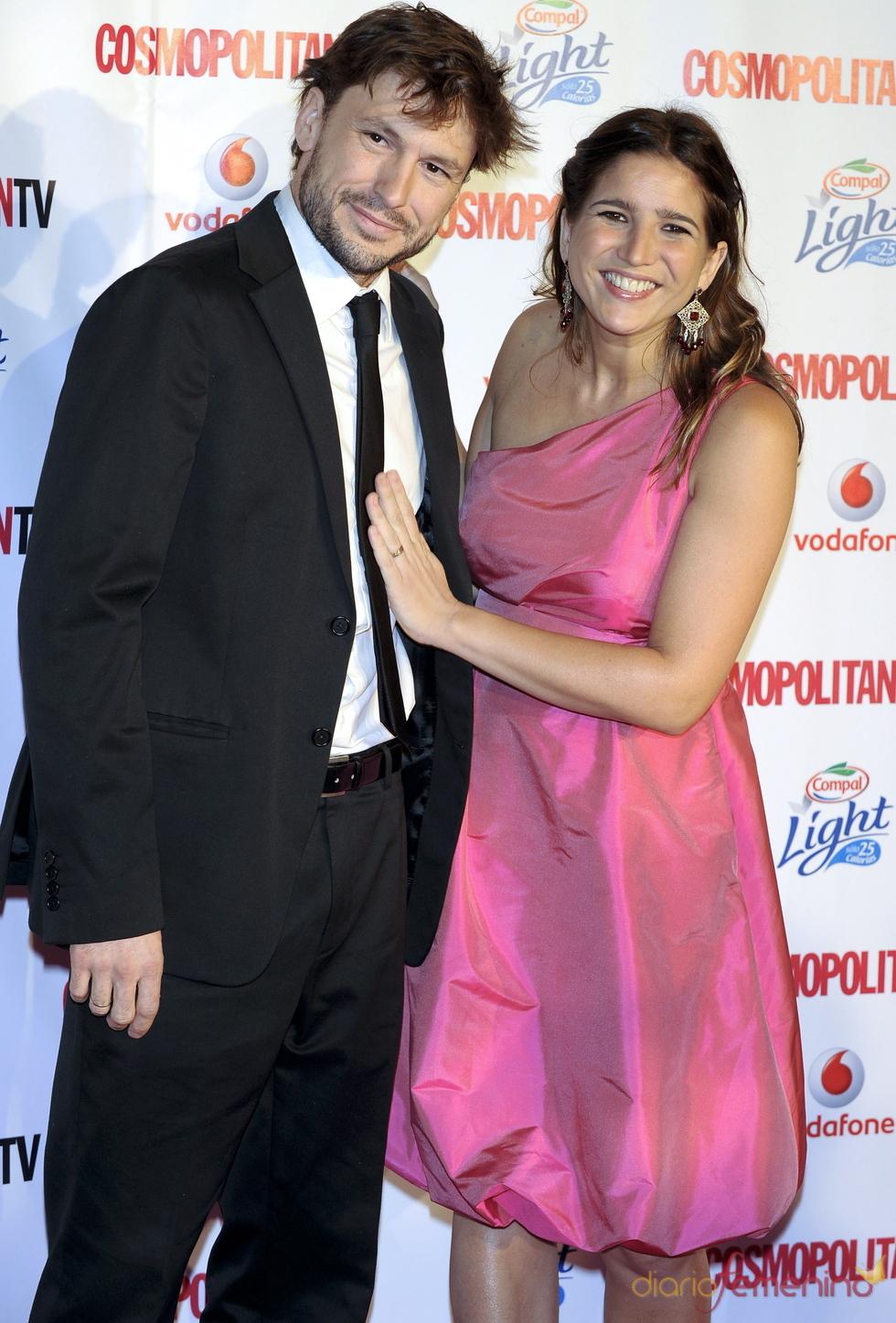 Lucía Jiménez y benito Sagredo en los Premios Cosmopolitan TV