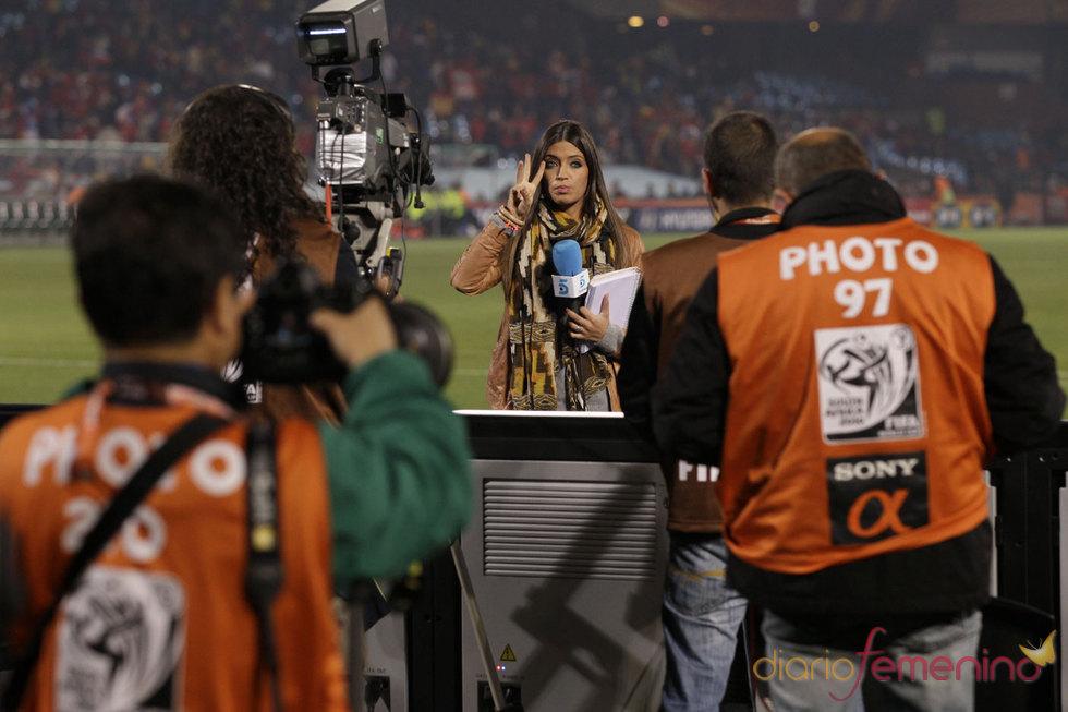 Sara Carbonero e Iker Casillas en el España Chile