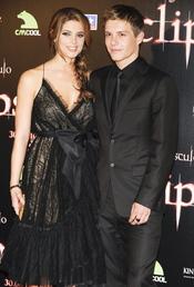 Ashley Greene y Xavier Samuel en la premiere de 'Eclipse' en Madrid