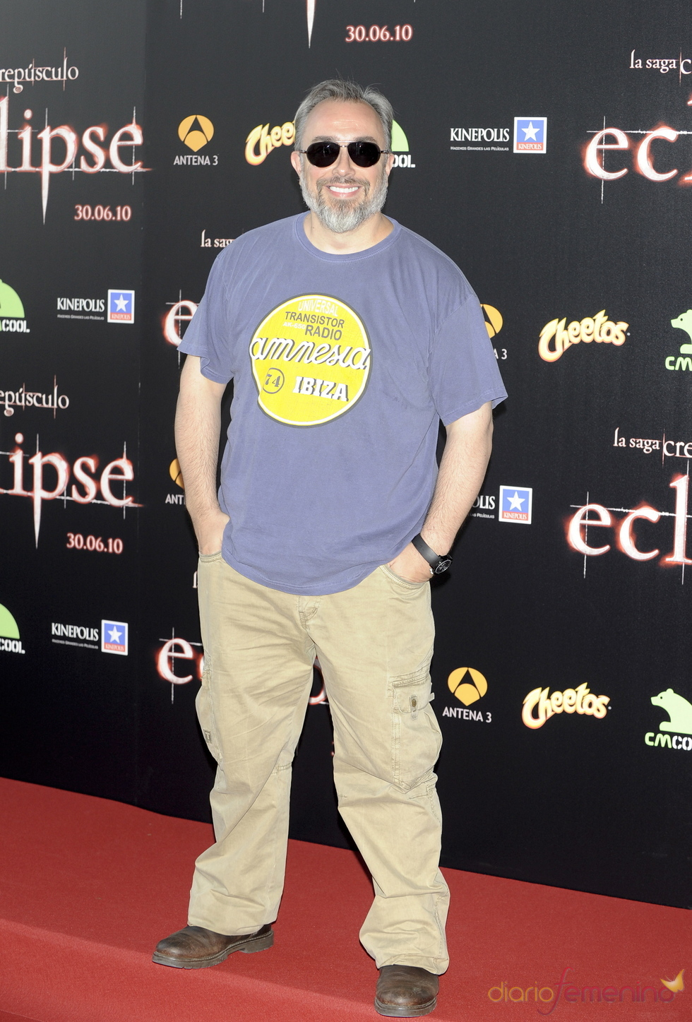 Álex de la Iglesia en la premiere de 'Eclipse' en Madrid