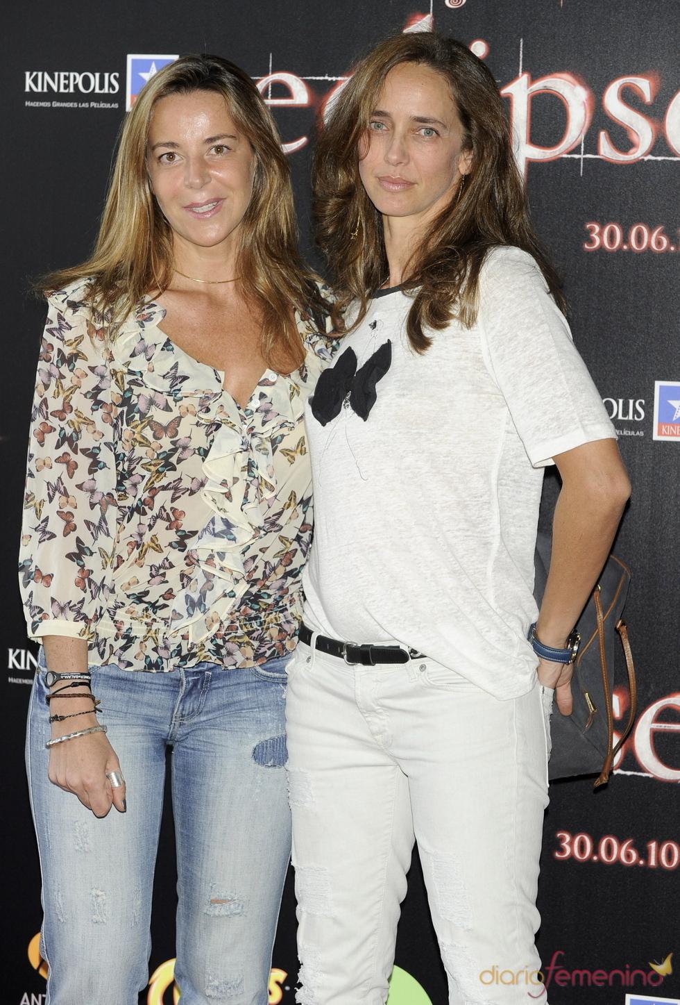 Blanca Martínez de Irujo y Blanca Suelves en el estreno de 'Eclipse'