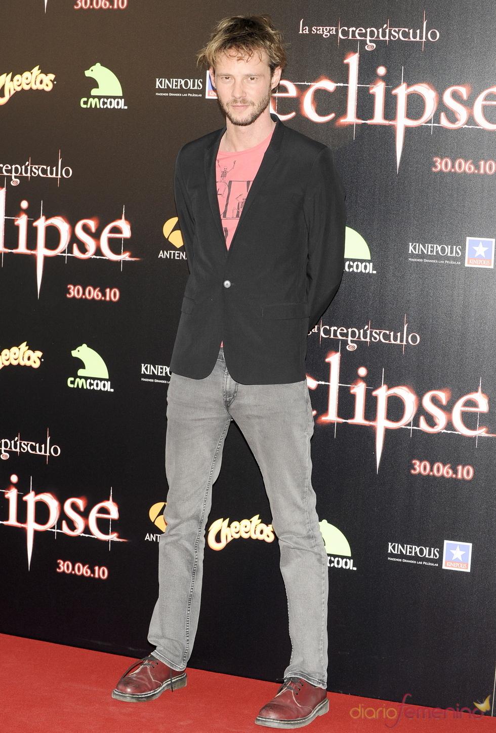 Eloy Azorín en el estreno de 'Eclipse'