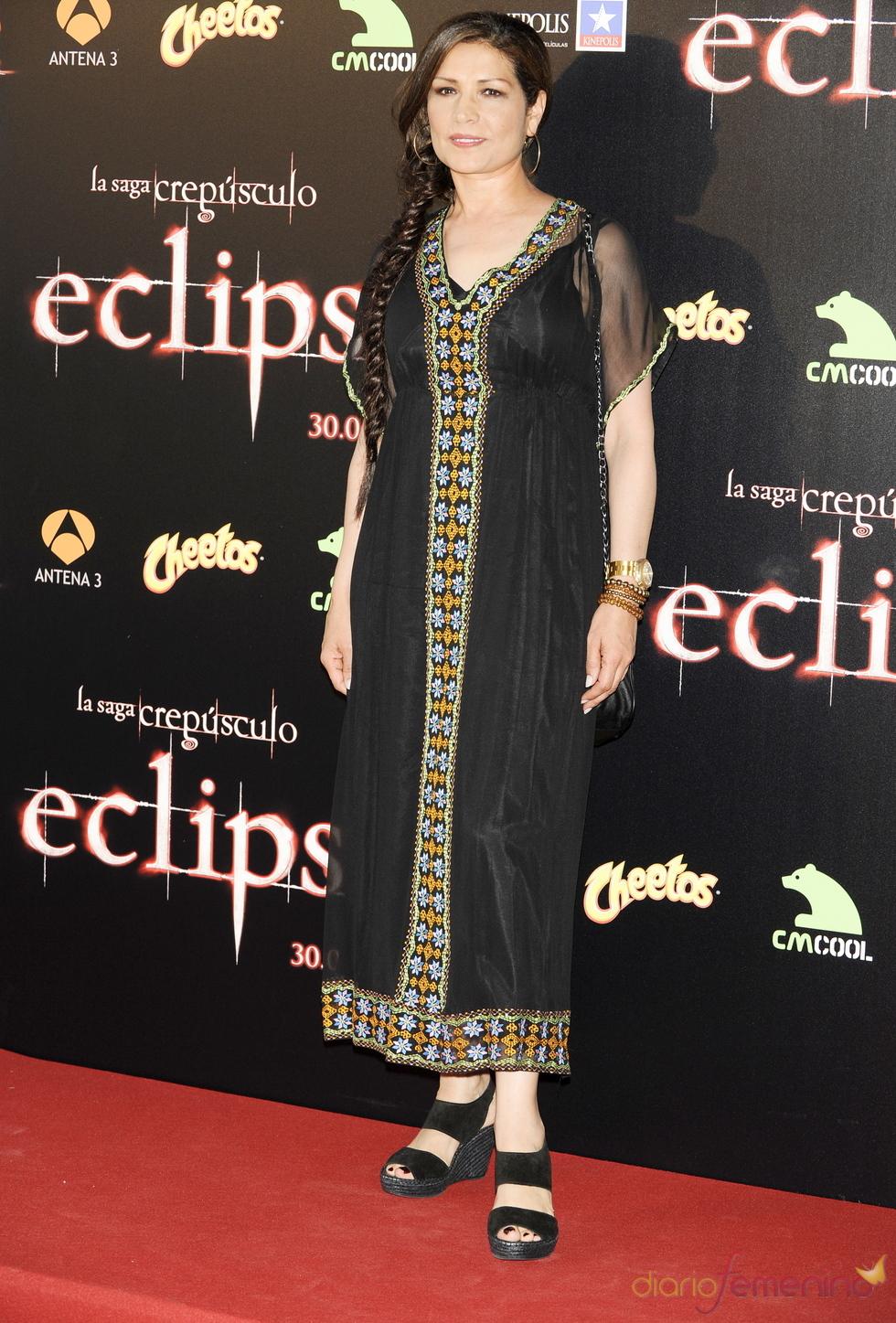 Encarna Salazar en el estreno de 'Eclipse'