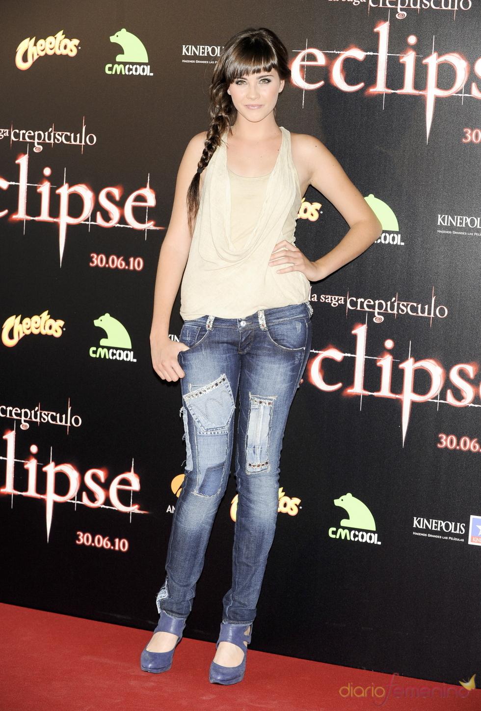 Lucía Ramos en el estreno de 'Eclipse'