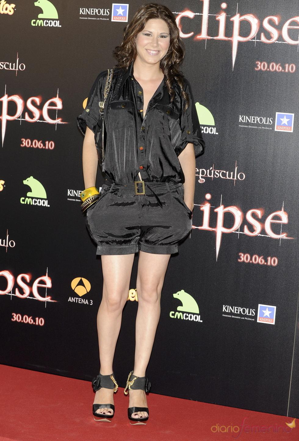 Tamara, en la premiere de 'Eclipse' en Madrid
