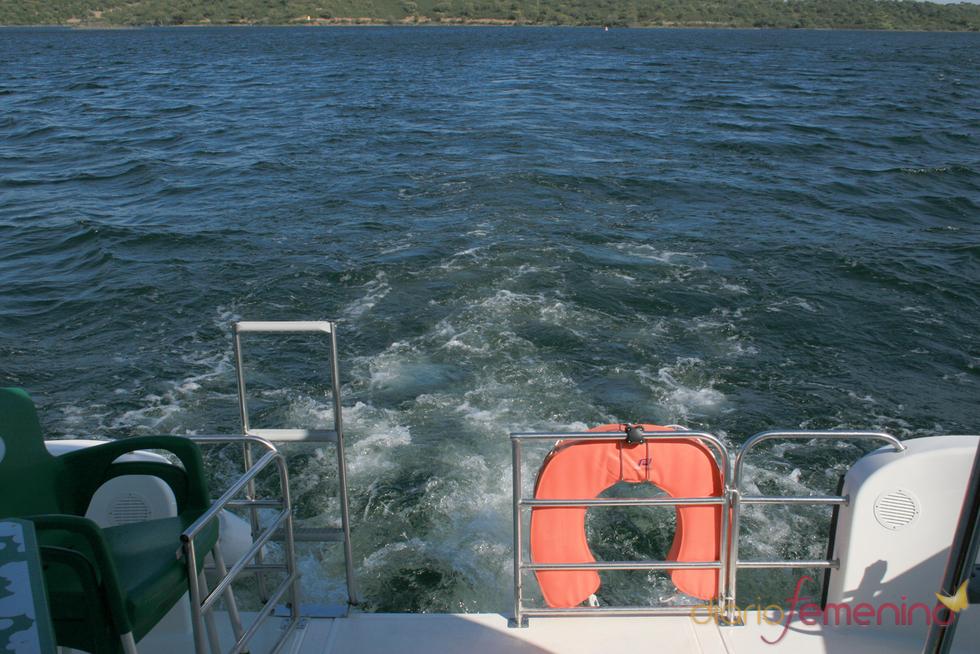 Navegación por el pantano de Alqueva, Portugal