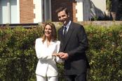 Amaia Salamanca y Fernando Gil reviven el compromiso de los Príncipes de Asturias