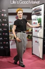 Bimba Bosé en la presentación del nuevo frigorífico de LG