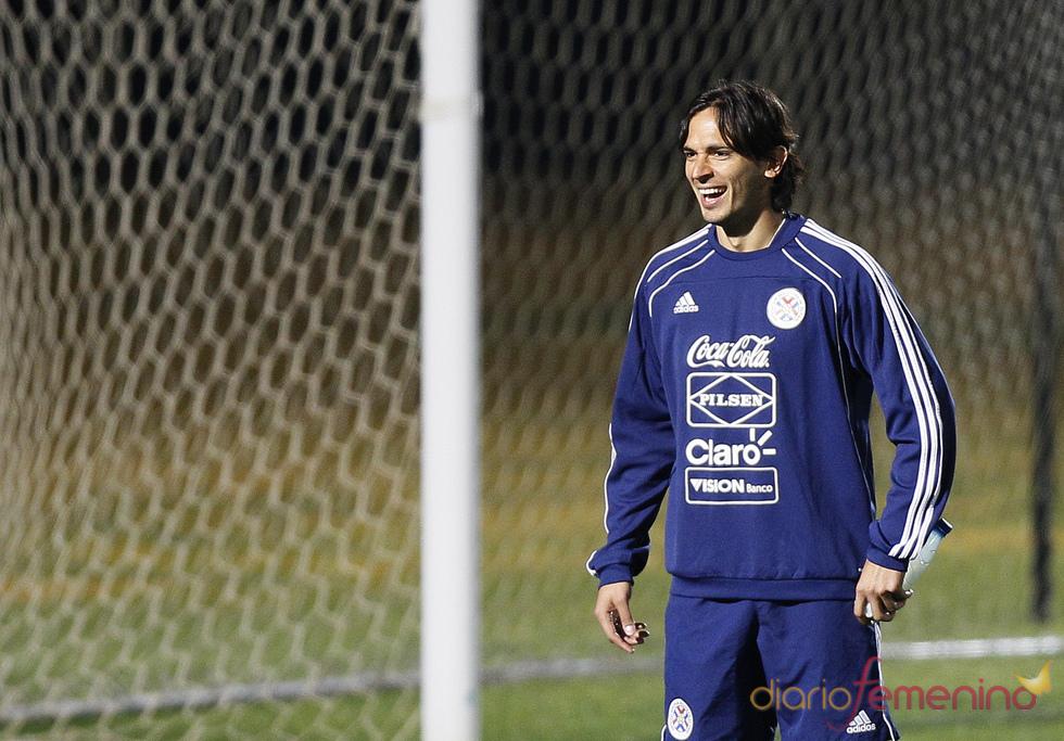 Roque Santa Cruz, de la selección de Paraguay