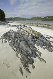 Playa en Morar, Escocia