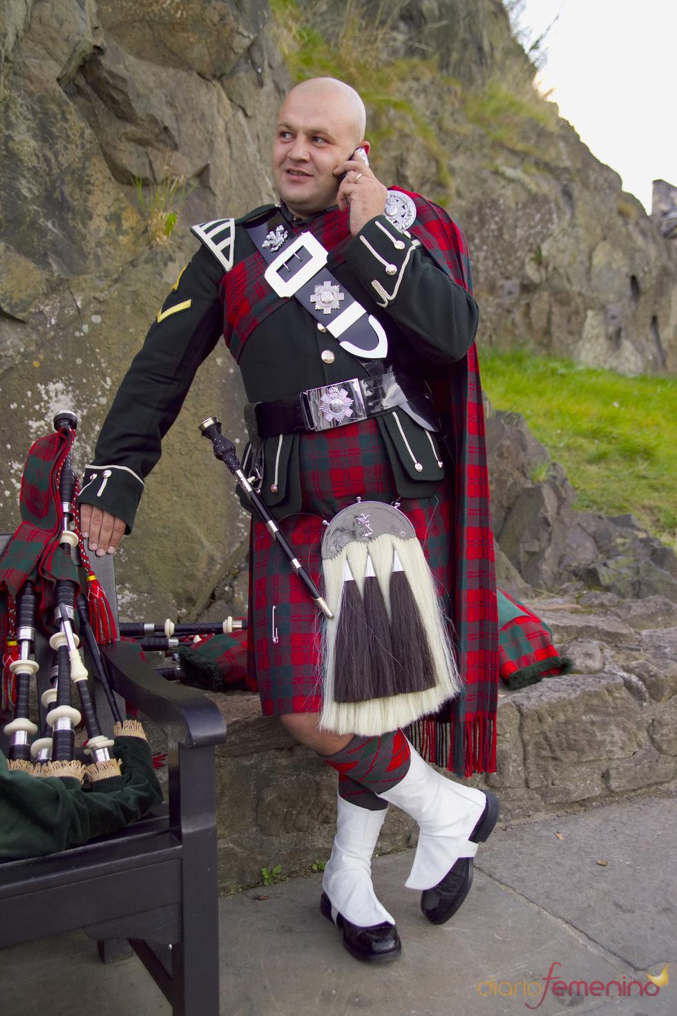 Traje típico de un soldado escocés