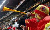 Españoles celebran en Sudáfrica el pase a la semifinal