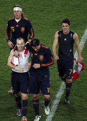 La Selección Española celebra llegar a las semifinales