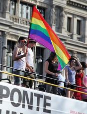 Bandera en el Orgullo Gay 2010 de Madrid