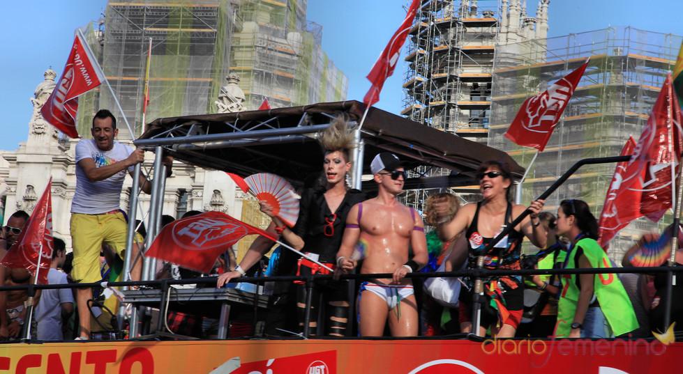 Chicos en el Orgullo Gay 2010 de Madrid