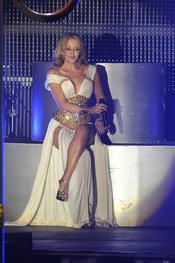 Kylie Minogue en su actuación en Plaza de España