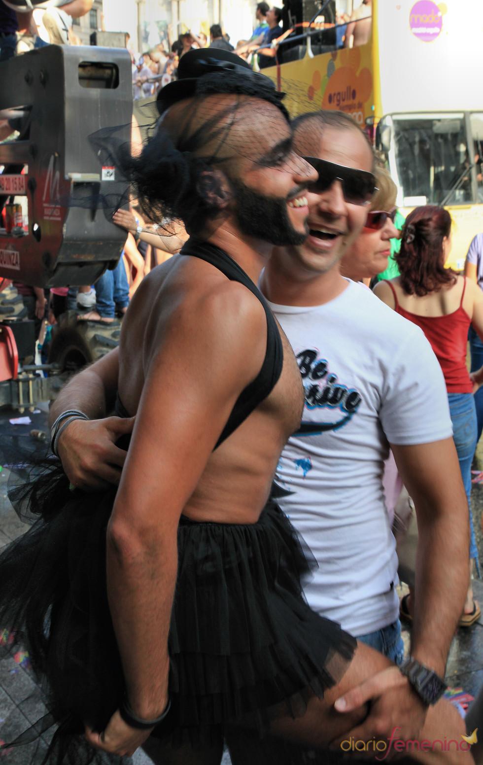 Hombre con tutú en el Orgullo Gay 2010