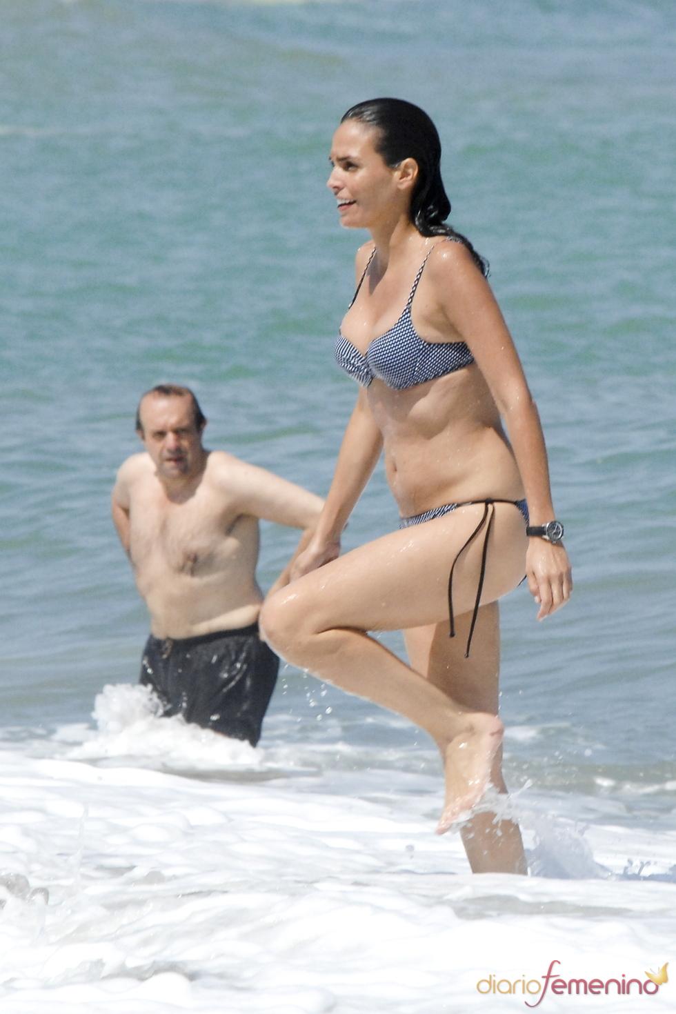 Inés Sastre con unos kilos de más