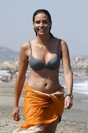 Inés Sastre, de vacaciones en Sotogrande