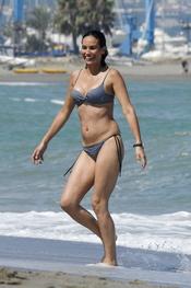 Inés Sastre con bikini de lunares