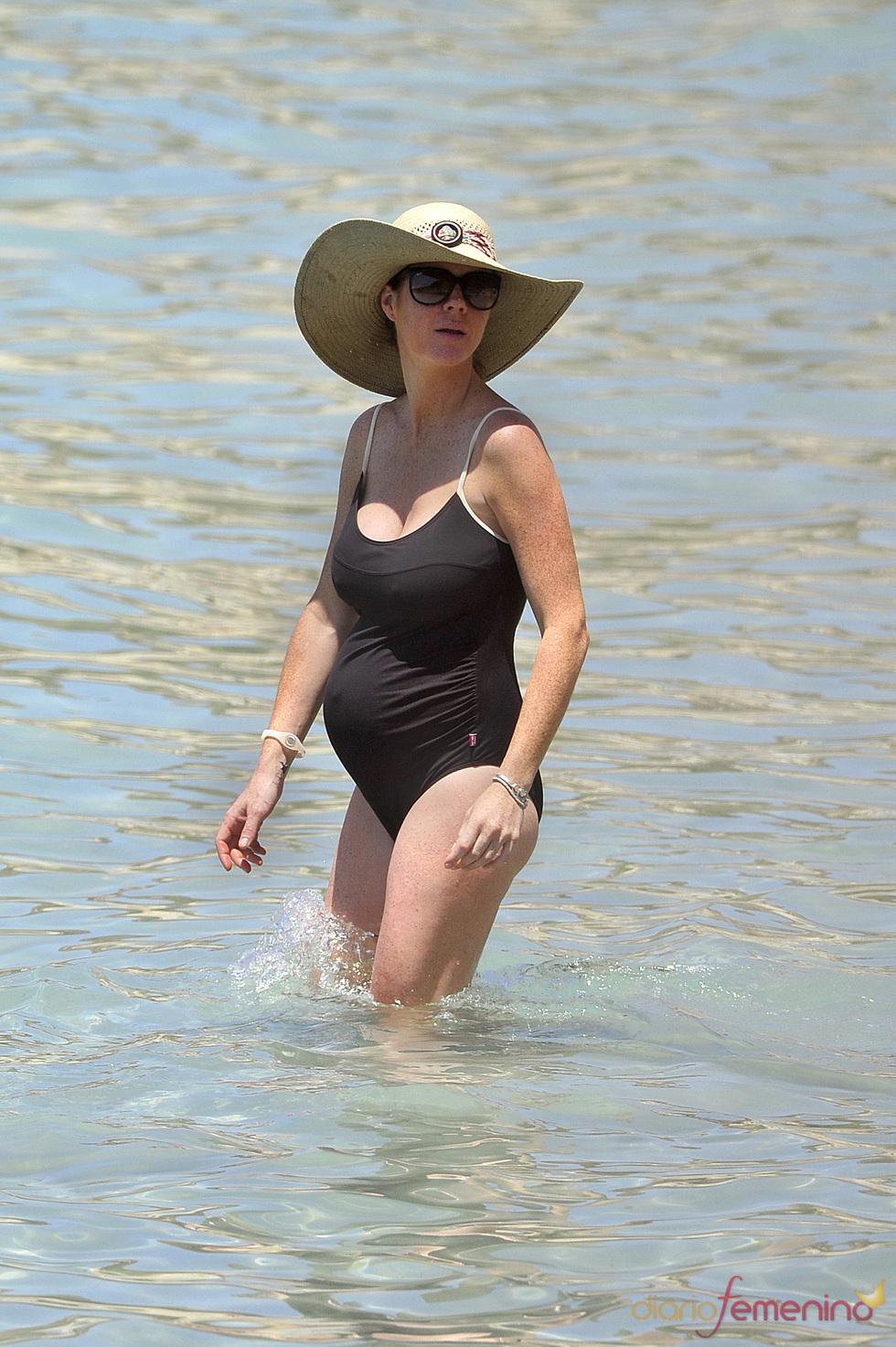 Amelia Bono, embarazada por segunda vez, en Ibiza