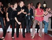 Estefanía, Alberto de Mónaco y Charlene Wittstock, a ritmo de rock