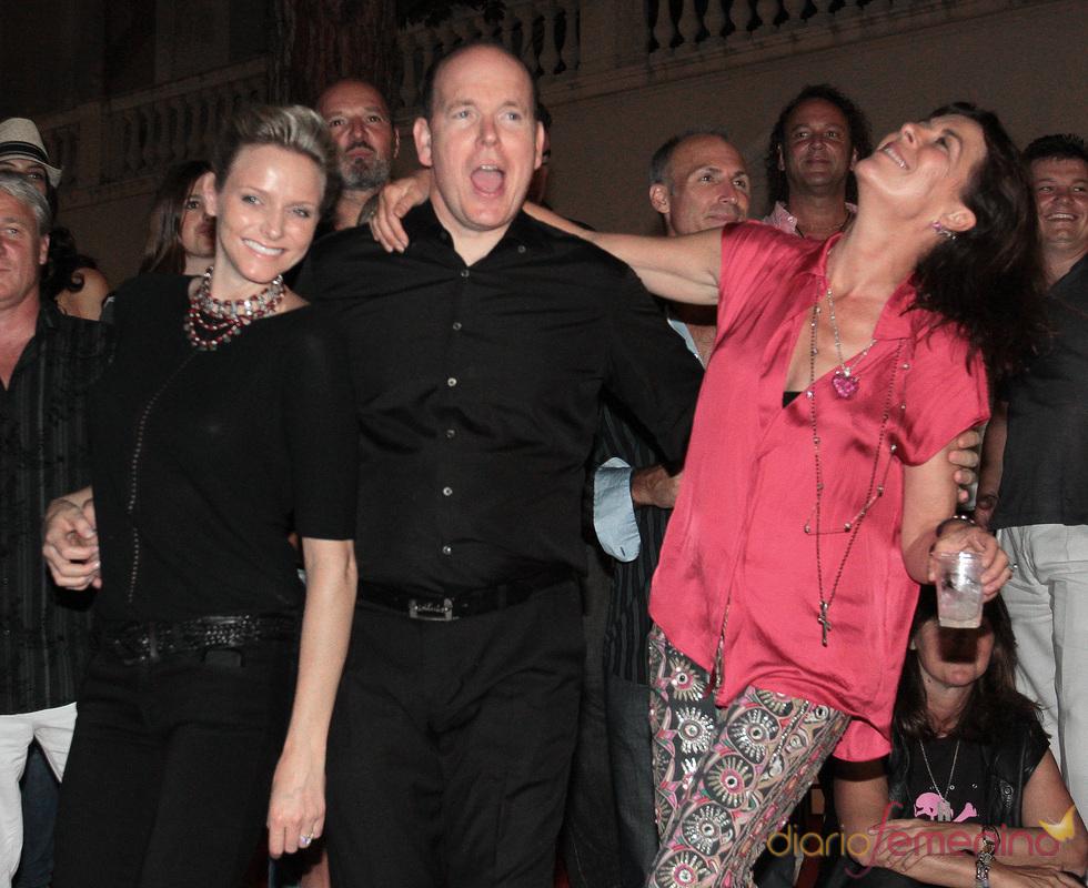 El desenfreno de Estefanía, Alberto de Mónaco y Charlene Wittstock