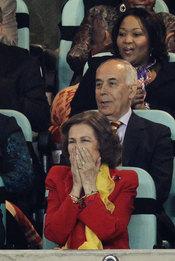 La emoción de la Reina Sofía en la victoria de España contra Alemania